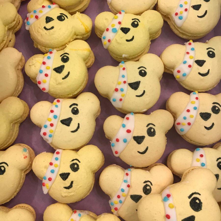 Pudsey Bear – Charity Macarons